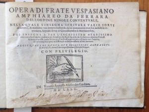 Amphiareo, 1580. Letterform Archive. First horizontal writing book.