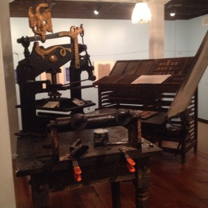 A Columbian Press at the Houston Printing History Museum