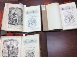 The Universal Penman by George Bickham X 3 @ UI Special Collections