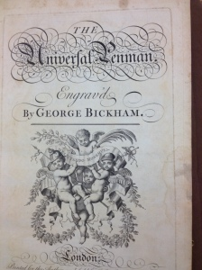 The Universal Penman by George Bickham at the University of Iowa Special Collections