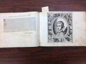 Marcello Scalzini portrait @ 24. In the front of Il Secretario 1585 at the University of Iowa Special Collections