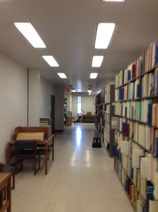 The Conservation lab at the University of Iowa Library is tucked away in the Government Docs section on the 5th floor