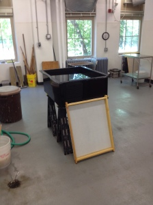 Papermaking classroom at the University of Iowa Center for the Book