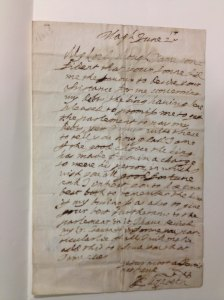 Queen Elizabeth 1660 letter to the Earl of Manchester at the Newberry Library
