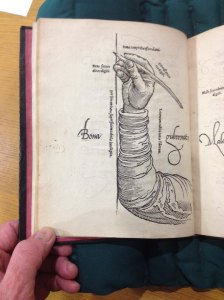 1549 Mercator shows how to hold the pen correctly.  Newberry Library