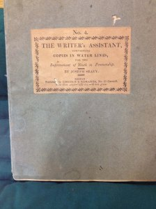 The Writer's Assistant by Joseph Seavy. Boston 1814 Newberry Library Case Wing Z43 .S43 1814