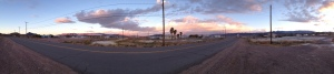 Tecopa, CA at sunrise looking West